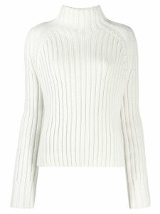 Holland & Holland ribbed knit jumper - White