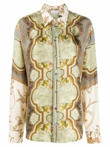Pierre-Louis Mascia embroidered long-sleeve blouse - NEUTRALS