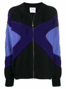 Barrie zipped knitted cardigan - Blue