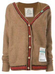 Maison Mihara Yasuhiro Racoon knit cardigan - Brown