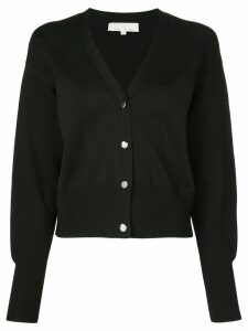 Fleur Du Mal cropped V-neck cardigan - Black
