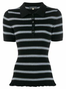 Alexa Chung striped polo shirt - Black