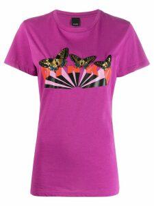 Pinko butterfly branded T-shirt - PURPLE