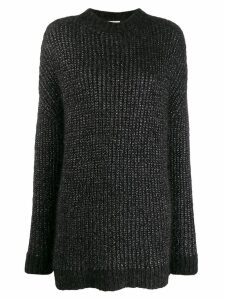Saint Laurent metallic loose jumper - Black