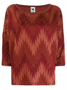 M Missoni chevron print sweater - ORANGE