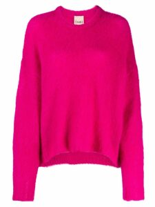 Nude relaxed-fit sweater - Pink