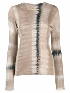Raquel Allegra tie-dye sweatshirt top - NEUTRALS