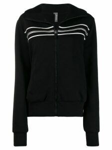 No Ka' Oi oversized zip-up hoodie - Black
