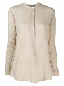 Raquel Allegra Henley long sleeve shirt - NEUTRALS