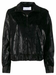 No Ka' Oi metallized zip-up jacket - Black
