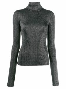 No Ka' Oi turtle-neck fitted top - Silver