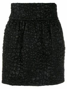 Saint Laurent textured mini skirt - Black