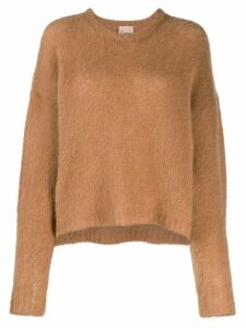Nude relaxed-fit sweater - Brown