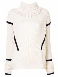 Palmer / Harding knit construction jumper - White
