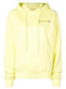 Sandy Liang Luna logo print hoodie - Yellow