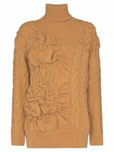 Simone Rocha patchwork cable-knit jumper - NEUTRALS