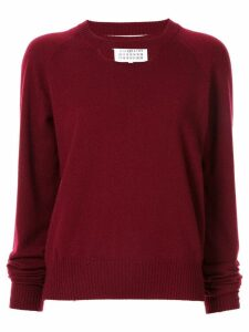 Maison Margiela knitted cut-out jumper - Purple