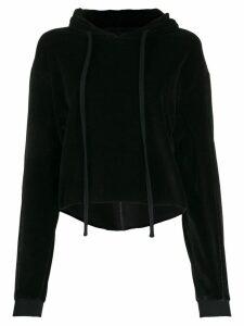 Thom Krom panelled velvet hoodie - Black