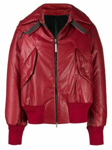 Isaac Sellam Experience leather bomber jacket - Red