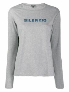 Aspesi quote print sweatshirt - Grey