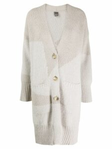 Lorena Antoniazzi long knitted cardigan - NEUTRALS