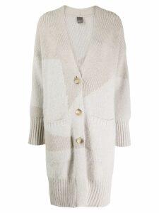 Lorena Antoniazzi long knitted cardigan - NEUTRALS