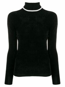 Emporio Armani contrast turtle-neck top - Black