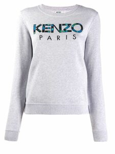 Kenzo logo embroidered sweatshirt - Grey
