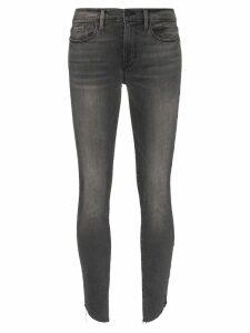FRAME Le Skinny de Jeanne raw-edge jeans - Blue