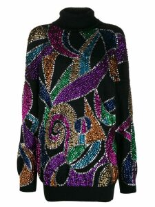 Amen sequin embroidered jumper - Black