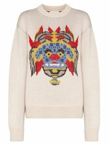 Kirin graphic print jacquard sweater - NEUTRALS
