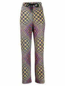 No Ka' Oi printed palazzo pants - Grey