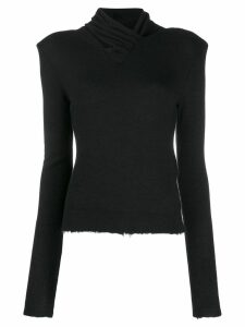Unravel distressed knitted jumper - Black
