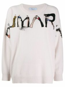 Blumarine ladies embroidered jumper - PINK