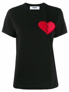 MSGM heart break motif T-shirt - Black