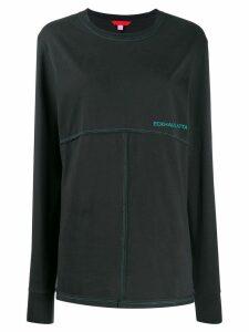Eckhaus Latta contrast stitching sweatshirt - Black