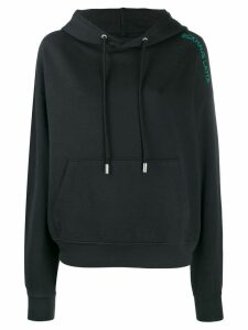 Eckhaus Latta embroidered logo hoodie - Black