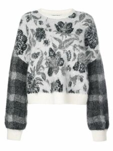 Cinq A Sept floral jumper - Black