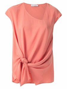 Mara Mac tie detail draped blouse - PINK