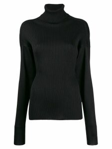 Bottega Veneta ribbed rollneck jumper - Black