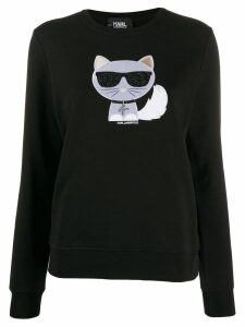 Karl Lagerfeld crystal embellished sweatshirt - Black