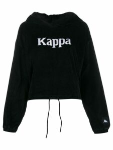 Kappa logo embroidered hooded sweatshirt - Black