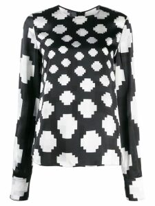 Marni graphic print blouse - Blue
