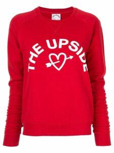 The Upside logo printed sweatshirt - Red