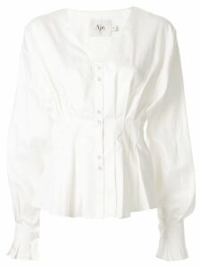 Aje long-sleeved Lizzie Blouse - White