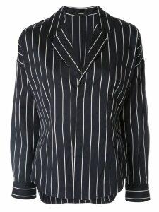 Bassike pinstripe jacket-style shirt - Blue