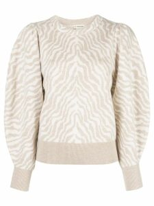 Ulla Johnson Massey zebra-jacquard jumper - NEUTRALS