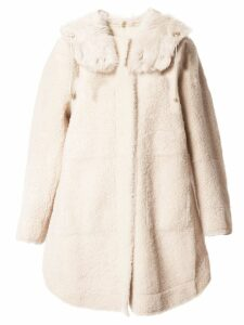 Yves Salomon hooded fur midi coat - Brown