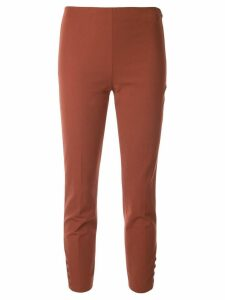Theory cropped fitted trousers - Brown