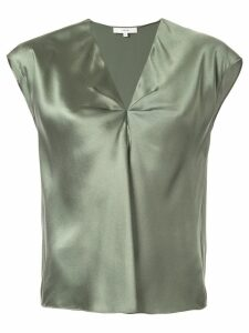 Vince short-sleeved V-neck blouse - Green